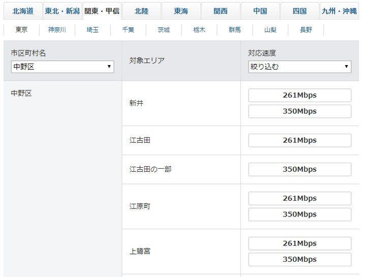 SoftBank Airの対応エリア