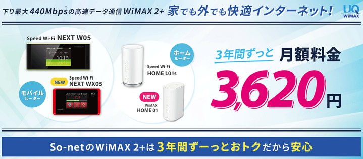 So-net WiMAX2+のキャンペーン